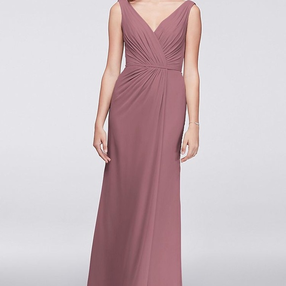 a7238f1326 David s Bridal quartz chiffon bridesmaid dress
